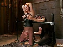 Audrey Hollander Gets Her Pussy Destroyed In BDSM Vid