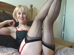 British, British, Masturbation, Mature, POV, Stockings