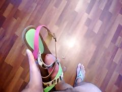sandals of my girlfriend fucked and cum on