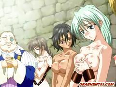 Anime, Anime, Hentai, Lick, Pussy, Slave