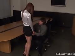 Japanese cutie gets her face dicked after pussy plays video