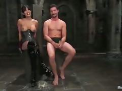 Dominant Shy Love Masks and Ties a Guy for a Hardcore Fucking in BDSM video