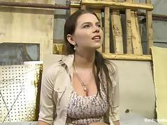 Bukkake Gangbang with All Holes Fucked for Busty Marina Visconti