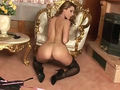Sex-starved glamour babe Cindy Hope wants you to join her in scorching solo action