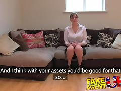 FakeAgentUK: Amateur British girl with huge tits gets multiple orgasms