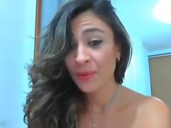 Feisty Latina slut shows her goods