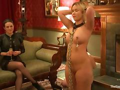 Three sexy chicks in an amazing bondage video