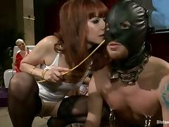 Reverse Gangbang with Pegging Featuring Three Hot Dominant Babes