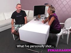 FemaleAgent: Mutual masturbation in casting interview