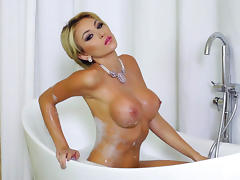 Bathroom, Bath, Bathing, Bathroom, Big Tits, Blonde