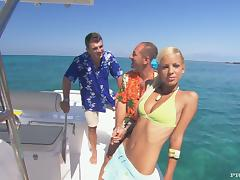Boat, Bikini, Blonde, Boat, Cowgirl, Cum in Mouth