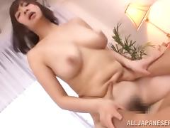 very hairy asian pussy filled with jizz
