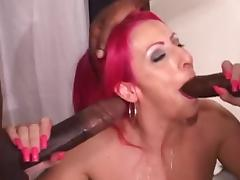 Cuckold MILF With 2 Hung Black Cocks