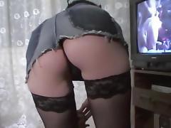 Black stocking babe blowjob and hardcore