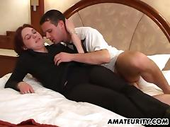 Hot office girl sucks a dick and fucks in a niche