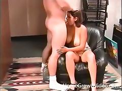 Lusty honey can't stop sucking her man's penis