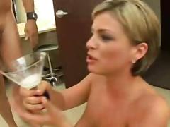 Bukkake, Blonde, Bukkake, Blowbang, Gokkun, Cum Drinking