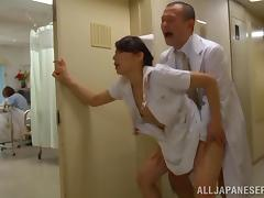 Public, Asian, Couple, Doctor, Doggystyle, Horny