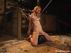 Girl in Rope Bondage Gets Toyed and Placed on Sybian