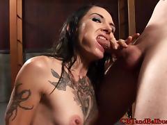 CBTandBallBusting Video: Cock and Ball Biting with Simone Kross