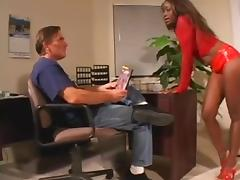 White fellow worships darksome femdom-goddess' gazoo and vagina