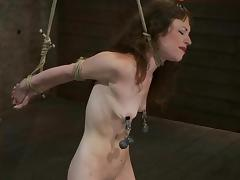 Rain DeGrey enjoys torturing skinny brunette Seda in a basement