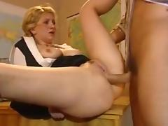 Teacher, Anal, Assfucking, Blonde, College, Russian