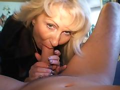 Mom and Boy, Blonde, German, Mature, MILF, Nylon