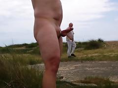 Hard Cock on the beach