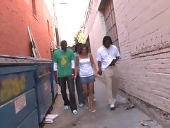Hot vid of Angelina Korrs enjoying an interracial gangbang