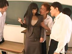Marvelous Miku Sunohara Gets Gangbanged By Evil Guys