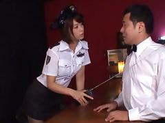 Nanami Kawakami naughty police officer fucks with the chief