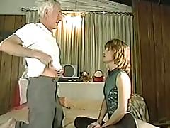 Grandpa is fucking this booty blond chick