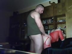 Fucking his slut on hidden camera