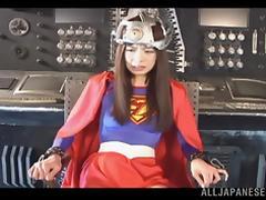 Ren Aizawa naughty Asian babe in costume gives superb headjob