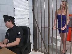 Office, Blonde, Cop, Couple, Hardcore, Jail