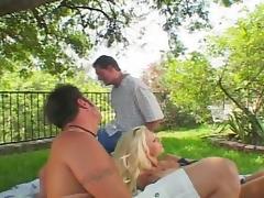 All, Blonde, Cumshot, Threesome