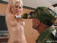 Champagne, Babe, Big Cock, Blonde, Blowjob, Champagne