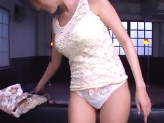 Julia alluring Asian milf flaunts huge tits and blowjob talents