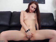 Strip, Dildo, Skinny, Skirt, Small Tits, Strip