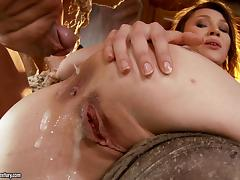 Fantastic Macy Gets A Cumshot On Her Pretty Asshole