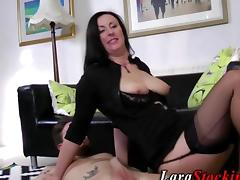 Savory British milf ass nailed on the floor