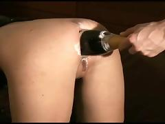 Champagne, Ass, Beauty, Bottle, Champagne, Gaping