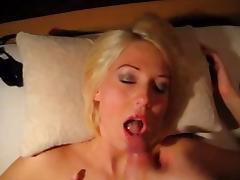 dirty talk german blonde pov facial scene