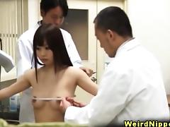 Asiansex cutie strips down to her gstring