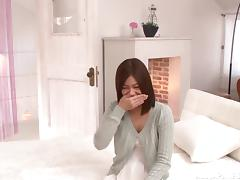 Arousing Asian teen Hikaru Konno in hot position 69