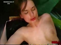 Sexy young sluts loves bukkake and warm semen on their cute faces