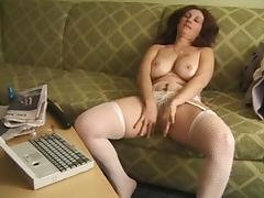 Delena Dawn 5 - masturbating on the couch
